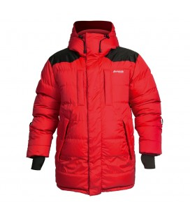 Vattert og Dunjakker Damer Bergans Expedition Down Parka Red/Black 5322