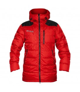 Vattert og Dunjakker Damer Bergans Expedition Down Light Parka Red/Black 5323
