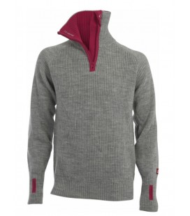 Ull Damer Ulvang RAV Polo Unisex Grey/Beetroot SD77005