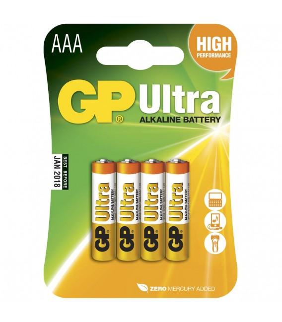 Tilbehør GP Batteri LR03 (AAA) Ultra Alkalisk - 4PK gplr3 49 kr