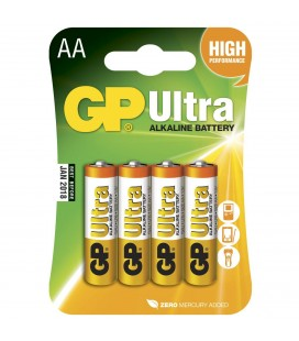 Tilbehør GP Batteri LR6 (AA) Ultra Alkalisk - 4PK gplr6
