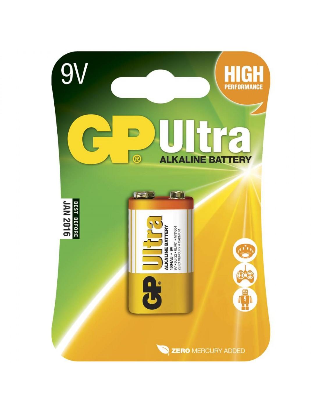 Tilbehør GP Batteri 6LF22 Ultra Alkalisk 9 v gp6lf22 55 kr