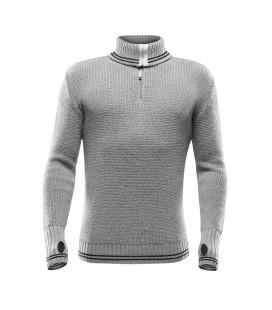 Devold Randers Zip Neck Grey Melange