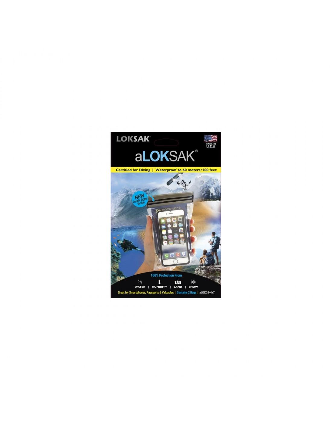 aLOKsak Vanntett Smarttelefon Pose 11,2x18,4cm 2stk
