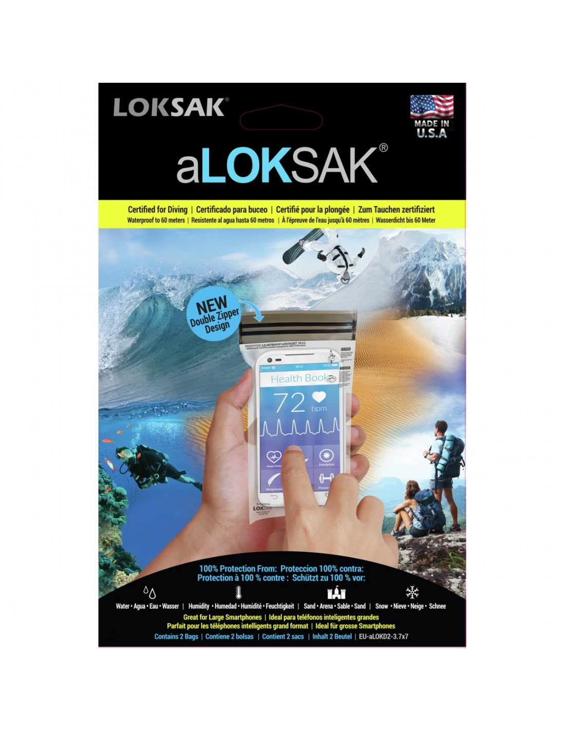 aLOKsak Vanntett Smarttelefon Pose 9,53x17,78cm 2stk
