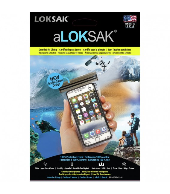 Pakksekker  aLOKsak Vanntett Iphone Pose 8,58x16,2cm 2stk 800000110