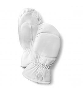Hestra Leather Box Mitten White
