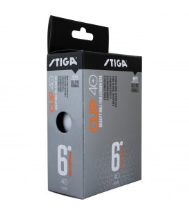 Stiga Cup ABS 6-pack White