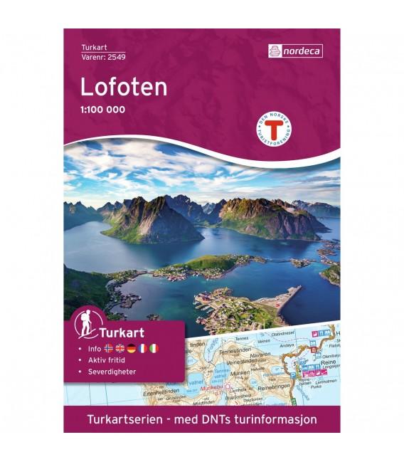 Kart Nordeca Lofoten 1:100 000 n2549 239 kr