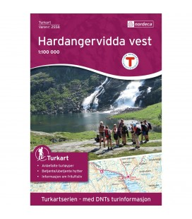Nordeca Hardangervidda Vest 1:100 000