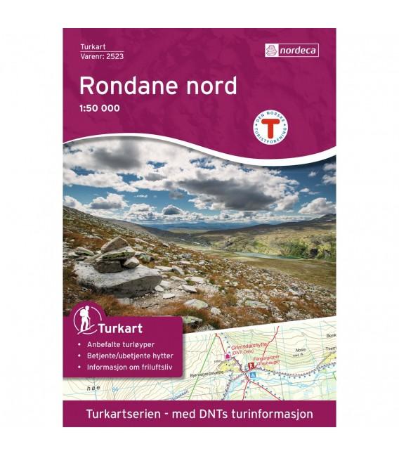 Kart Nordeca Rondane Nord 1:50 000 n2523 239 kr