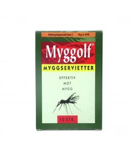 Mygg & Flåttbeskyttelse Myggolf Myggserviett 10-pk 6
