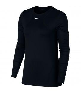 Genser Damer Nike Np Top Long Sleeve All Over Mesh Dame AO9949