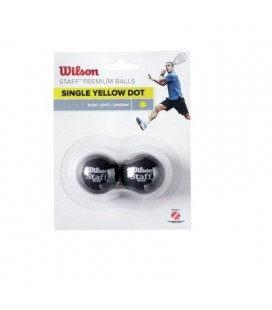 Tennis & Squash Wilson Staff Squash Ball Yellow Dot WRT617300