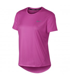 T-skjorter, Topper og Pique Nike Miler Short Sleeve Run Dame AJ8121