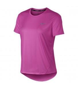 Overdel Dame Nike Miler Short Sleeve Run Dame SDAJ8121
